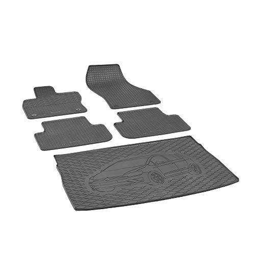 Kofferraumwanne und Gummifußmatten RIGUM geeignet für VW Golf VII Sportsvan ab 2014 Perfekt angepasst + Auto DUFT