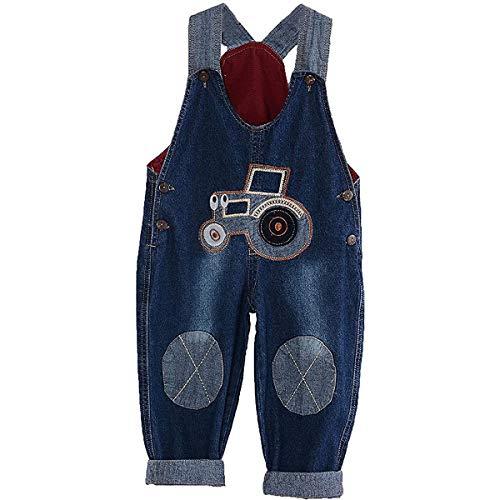 ACMEDE Latzhose Kinder Baby Jungen Mädchen Jeanshose Latzhosen Jeans Hosen Baby Kinder Overall (100)