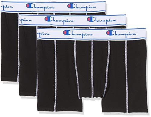 Champion Herren Boxershorts Coton (3er Pack), Schwarz (Noir 8Mj), Large