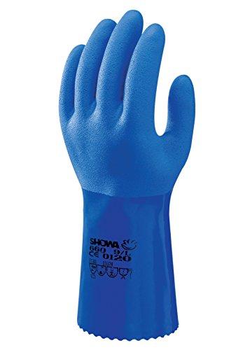 SHOWA 660, PVC – Beschichtung, Chemie, Blau, 10/XL