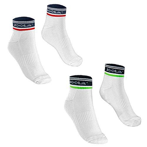 JOOLA Socken Fano (weiß-schwarz, XL)