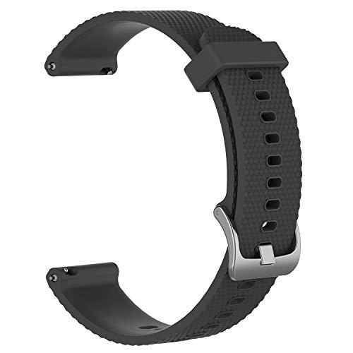 INF Armband kompatibel mit Garmin VivoActive 3 / Move/HR, verstellbares Armband für Smartwatch 105-124 mm, grau