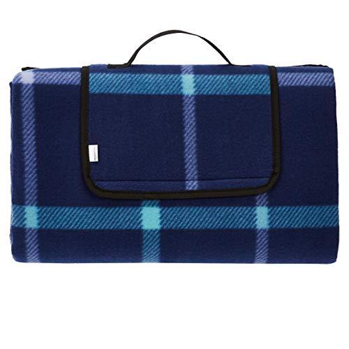 Amazon Basics - Picknickdecke, campingdecke mit wasserdichter Unterseite, 200 x 200 cm