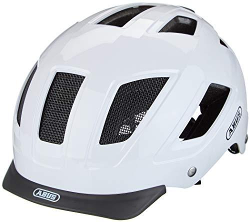 ABUS Hyban 2.0 Stadthelm - Robuster Fahrradhelm für den Alltag mit ABS-Hartschale - für Damen und Herren - 86903 - Weiß, Größe L