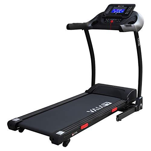 AsVIVA Laufband Cardio T16 Heimtrainer, Bluetooth, 15% Steigung, 16km/h Geschwindigkeit, energieeffizienter 3,5 PS goGreen (elektr. Steigung), Laufband Heimtrainer klappbar