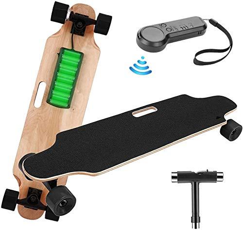 Elektrisches Skateboard Longboard E Komplettboard Elektrisches City Skateboards Elektrolongboard mit Fernbedienung und 250W Motor   Reichweite 10 km, Max. Geschwindigkeit 20km/h