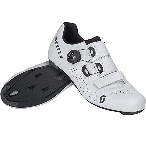 Scott Road Team Boa Rennrad Fahrrad Schuhe weiß/schwarz 2022: Größe: 45