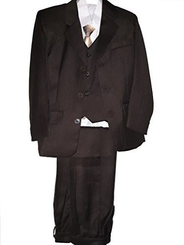 New Fashion Elegante 5 teilige Kinder Anzug in Braun für Jungen/Gr. 104-158 (176/182)