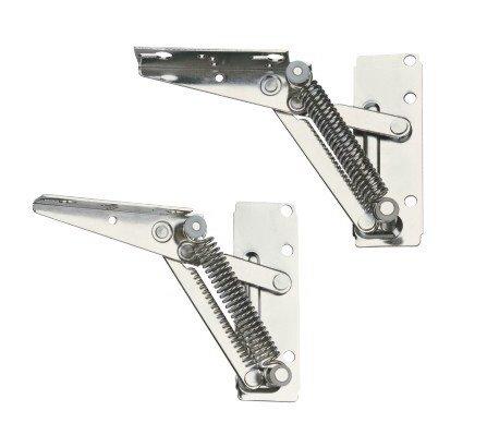1 Paar Klappenhalter Klappenbeschläge Schrankklappenbefestigung verzinkt 120 x 145mm