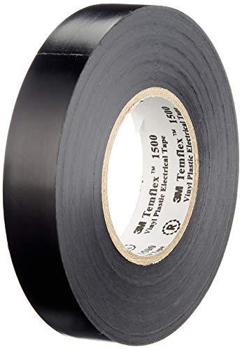 3M TSCH1525 Temflex 1500 Vinyl Elektro-Isolierband, 15 mm x 25 m, 0,15 mm, Schwarz