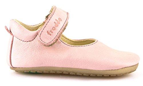 Froddo Baby Mädchen Prewalkers Lauflernschuh Krabbelschuh Ballerina Spangenschuh - PINK (rosa) - G114001-1 (23 EU, Rosa)