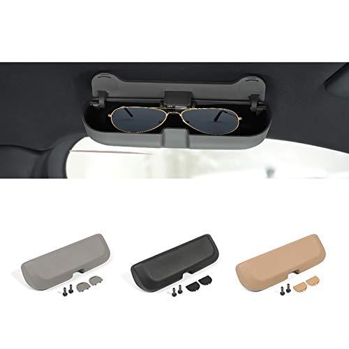 Wcnsxs Auto Sonnenbrillenhalter Brillenetui Aufbewahrungsbox, Für Porsche Cayenne Auto Sonnenblende Glasse Case Organizer Brillenhalter