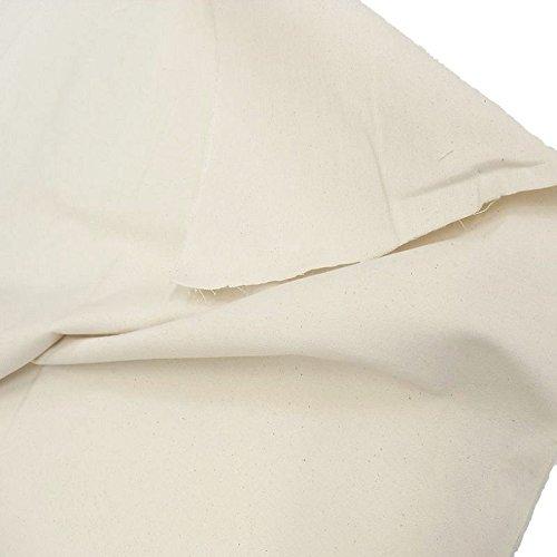 TOLKO Baumwollstoff Meterware Nessel ROH-Baumwolle Natur-Beige als Dekostoff/Bezugsstoff/Modestoff (Breite: 102 cm | mittelschwer)