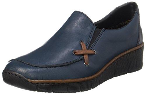 Rieker Damen 53783 Slipper, Blau (pazifik/brandy/pazifik), 38 EU