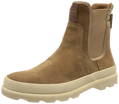GANT FOOTWEAR Damen Frenny Boot Chelsea-Stiefel, warm Khaki, 39 EU