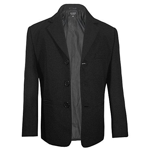 Paul Malone Jungen Sakko Anzugjacke Blazer schwarz - Kinder Anzug Jacke Gr. 104 (4 Jahre)