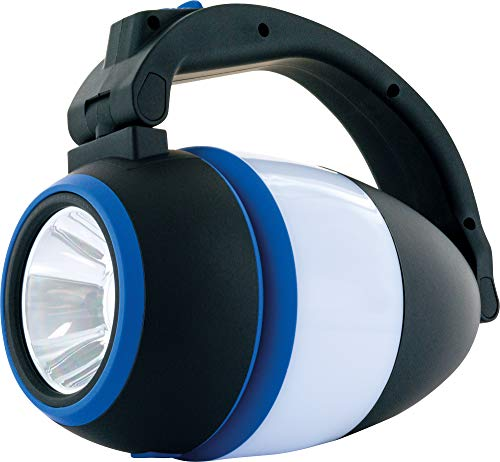 SCHWAIGER -661606- LED Campinglampe 3in1 3 W als Tischleuchte Handleuchte Campingleuchte Taschenlampe 200 Lumen für Reisen Urlaub Wandern Campen klappbar