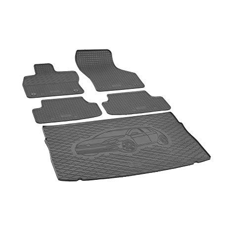 Kofferraumwanne und Gummifußmatten RIGUM geeignet für VW Golf VII Schrägheck 2012-2020 (Passt Nicht zu e-Golf) Perfekt angepasst + Auto DUFT