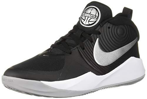 Nike Unisex Team Hustle D 9 (GS) Basketballschuhe, Mehrfarbig (Black/Metallic Silver/Wolf Grey/White 000), 37.5 EU
