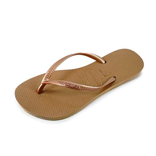 Havaianas Damen Slim Flip Flop, Rose Gold, 39/40 EU