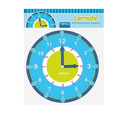 Trötsch Lernuhr mit beweglchen Zeigern: Lernspiel Uhr lernen (Lernuhr / mit beweglichen Zeigern)