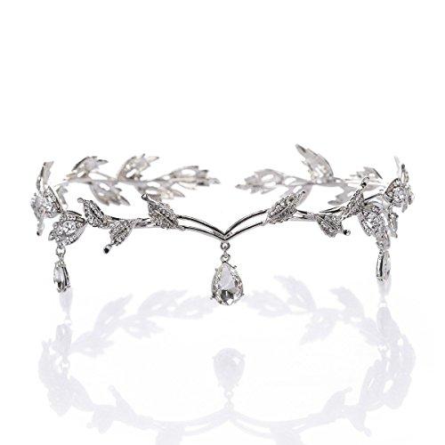 Hochzeit Kristall Kopfschmuck Perlen Stirnband Strass Stirnband Braut Haarschmuck