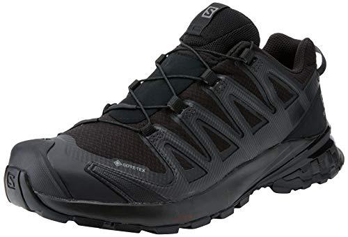 Salomon Damen XA PRO 3D V8 GTX, Leichte Schuhe für Trail Running und Wandern, Wasserdicht,Schwarz (Black/Black/Phantom),40 2/3 EU