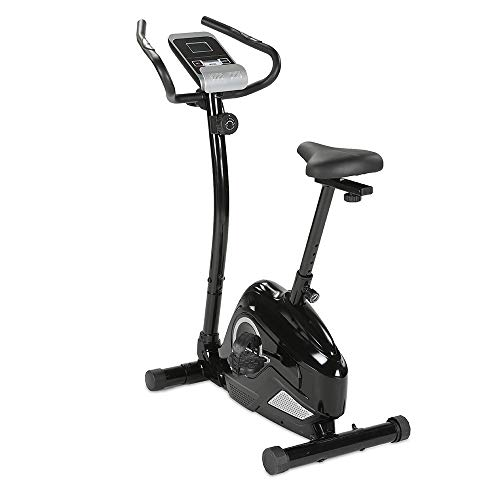 maxVitalis Ergometer, Cardio-Heimtrainer mit Handpulssensoren, 8 Widerstandsstufen, hochwertiges Magnet-Bremssystem, 5 kg Schwungmasse, Transportrollen, bis 120 kg belastbar, Senioren-gerecht