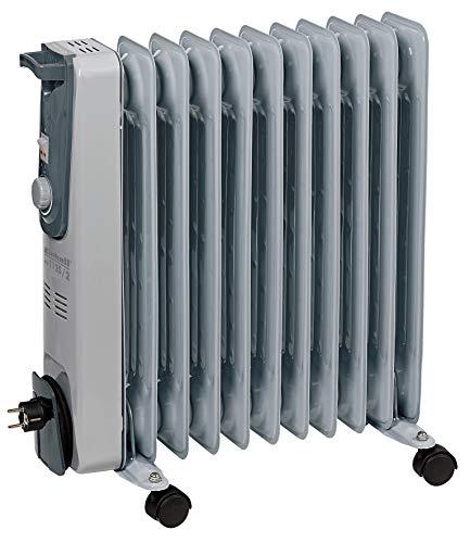 Einhell Ölradiator MR 1125/2 (bis 2500 Watt, 3 Heizstufen, stufenloser Thermostatregler, fahrbar, Kipp- und Überhitzungsschutz, Betriebsanzeige)