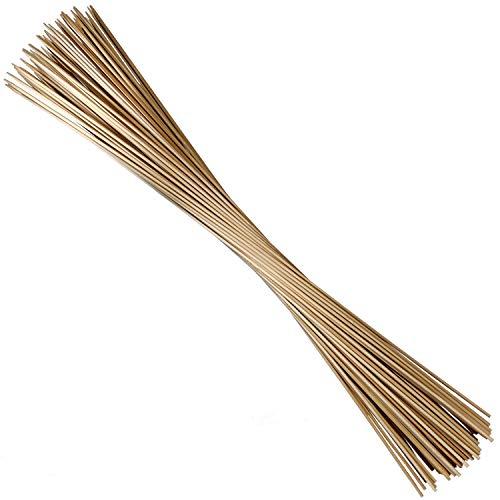 ORANGE DEAL 100 x Pflanzenstüze Bambusstäbe Tomatenstangen Rankgitter aus Holz Pflanzstab Rankstab 90 cm aus 100% Natur-Bambus Ø 6 mm (Rankstäbe Natur)