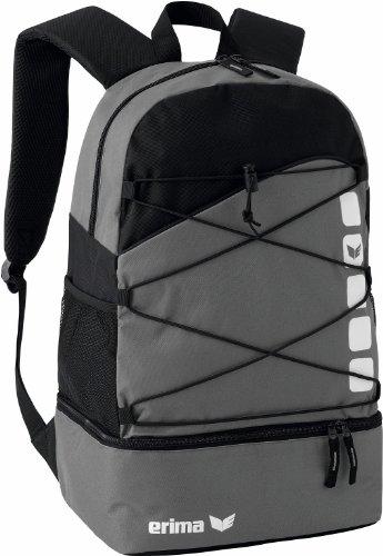 erima Multifunktionsrucksack mit Bodenfach, granit/schwarz, One size, 16 Liter, 723344