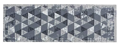 ASTRA Rutschfester Teppich Läufer Miabella — waschbarer Teppich Wohnzimmer — Flur Läufer Modern — (Gr. 50x150cm, Farbe: Dreiecke hellgrau)