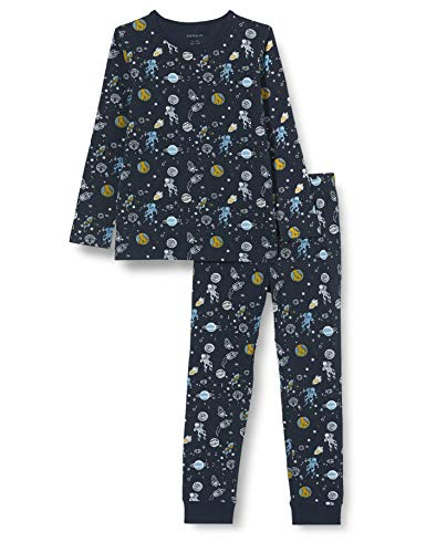 NAME IT Jungen NKMNIGHTSET Dark Sapphire Space NOOS Pyjamaset, 110-116 (2er Pack)