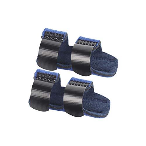 HEALLILY Fingerschiene Finger Frakturen Finger Splint Protector Einstellbare Fixierband Hand Support 1 Paar (Blau)