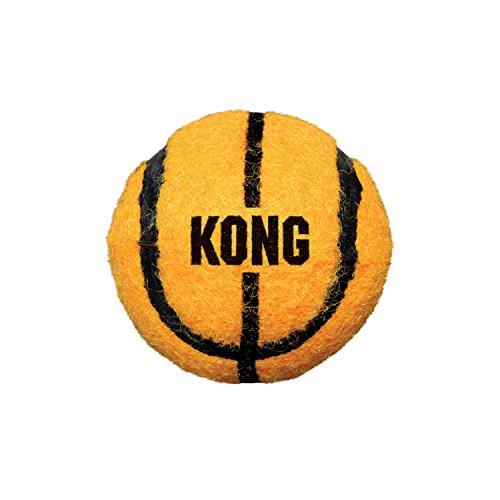 KONG – Sport Balls – Premium-Hundespielzeug, Quietschende Tennisbälle, Zahnschonend (Farbvar.) – Für Mittelgroße Hunde