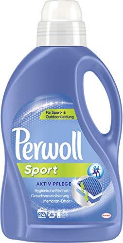 Perwoll Sport Aktiv Pflege (24 Waschladungen), Waschmittel für Sport- und Outdoorkleidung, Feinwaschmittel für hygienische Reinheit