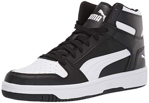 PUMA Unisex Rebound Layup Sneaker, schwarz/weiß, 39 EU
