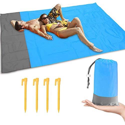 Isomatte, Falten Freie Isomatte Große Wasserdichtes Beach Blanket Picknick-Decke Bodenmatte Zelt Erdnägel Set (Size : 200cm*145cm)