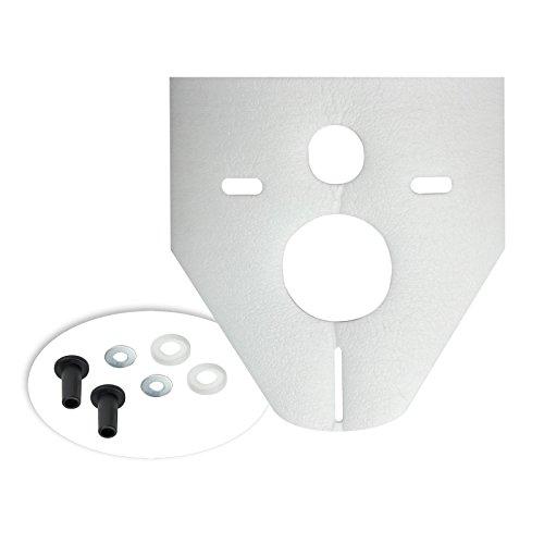 Otto Haas 7440 Schallschutz Schallschutzset für Wand-WC, Bidet Standard, 4mm, weiß