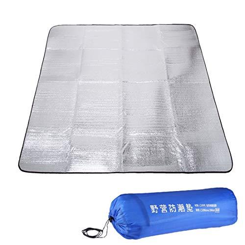 huihui Isomatte 7mm Eindickung von Doppel Aluminium Moisture Pad/Camping Sleeping Pad Größe: 200cm x 200cm (blau)