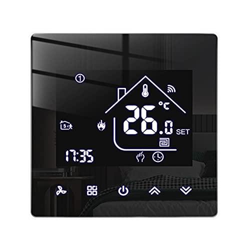 Beok Tuya Smart Thermostate Heizungsthermostat Raumthermostat WiFi-Thermostat Intelligente Wandthermostat für Wassererwärmung Fußbodenheizung Kompatibel Alexa,Google 3A TGR85WIFI