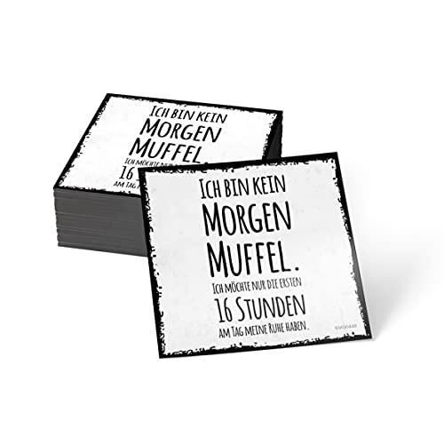 how about tee? Magnet-Sticker: Ich Bin kein Morgenmuffel. Ich - Kühlschrankmagnet mit Spruch