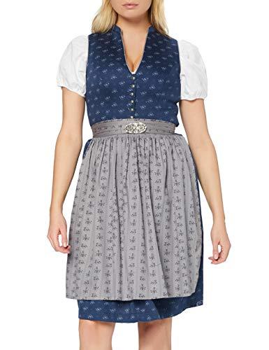 Stockerpoint Damen Dirndl Amalie2 Kleid für besondere Anlässe, dunkelblau-grau, 44