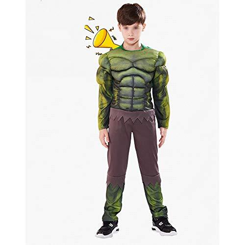FEIYAN HOME Halloween Kinderkleidung Junge Kleidung Anzug Muskel Hulk Kleidung (Color : B, Size : S)