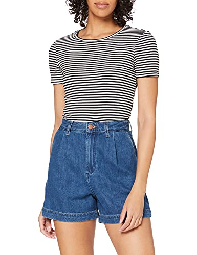 Wrangler Womens MOM Chino Denim Shorts, Lake Side, 30