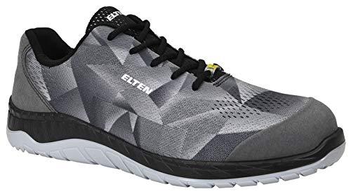 ELTEN Sicherheitsschuhe LANDON grey Low ESD S1, Herren, Sneaker, sportlich, super leicht, Grau, Stahlkappe - Größe 45