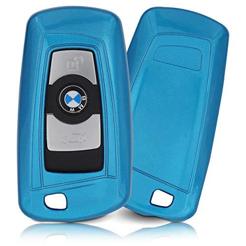 ASARAH ABS Schlüsselhülle mit edler Lackierung, Schutzhülle für Autoschlüssel Cover für Schlüssel-Typ BW 3BKL - Blau