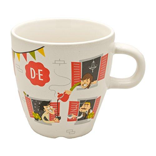 Douwe Egberts Kaffeebecher Neighbours Kaffee Becher Kaffeetasse Porzellan 280 ml