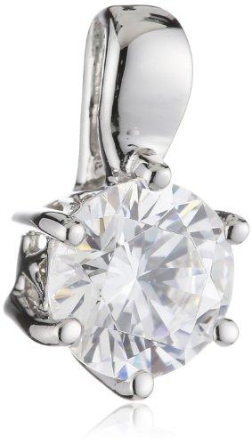 Diamonfire Damen-Anhänger Karat 925 Silber rhodiniert Zirkonia Brillantschliff weiß - 65/1004/1/082