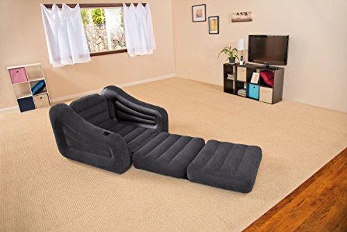 Intex aufblasbarer Auszieh-Sessel für Camping Gästebett 109x218x66cm
